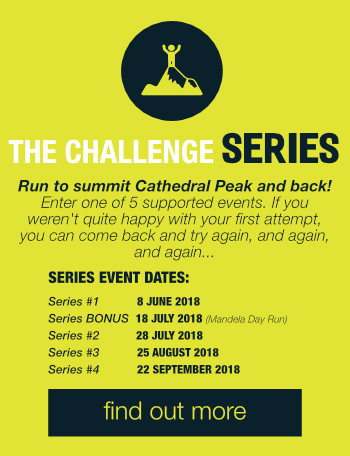 Run the cathedral peak challenge drakensberg, South Africa