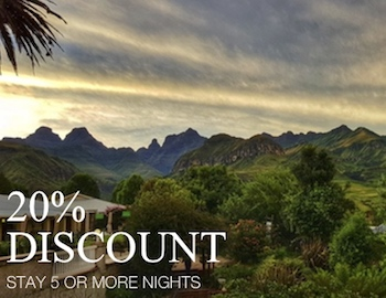 discount on hotel accommodation in the drakensberg