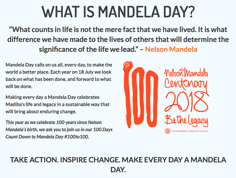 what is mandela day?